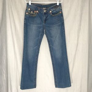 True Religion Wide Leg Denim Jeans